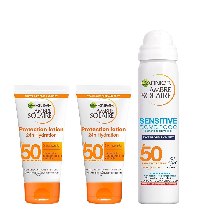 Ambre Solaire Travel Size Sun Cream Multipack Kit SPF 50, 3-Piece L' Oreal 5021044120870
