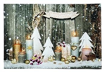 Weihnachtsbilder New York.Insatech Led Bild Merry Christmas 600x400mm Weihnachtsbild Leinwand Beleuchtet Bunt