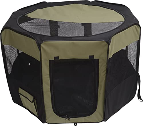MDOG2 Portable Pet Play Pen, 46 by 28-Inch, Sage