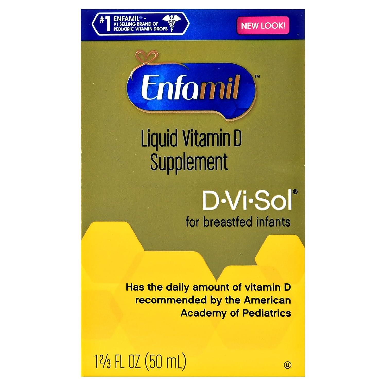 ce470751d464 Amazon.com  Enfamil D-Vi-Sol Vitamin D Supplement Drops 50 mL (Packs of 2)   Health   Personal Care