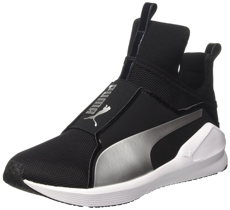 Puma Fierce Core, Zapatillas Deportivas para Interior para Mujer 37.5 EU|Negro (Black-silver)