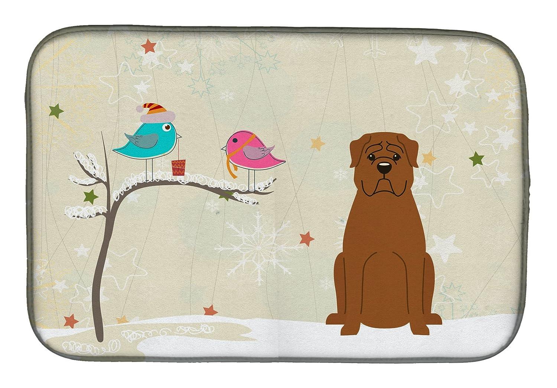 Caroline 's Treasures bb2545ddmクリスマスPresents間Friends Dogue De Bourdeauxディッシュ乾燥マット、14 x 21、マルチカラー   B07BQDJPRD