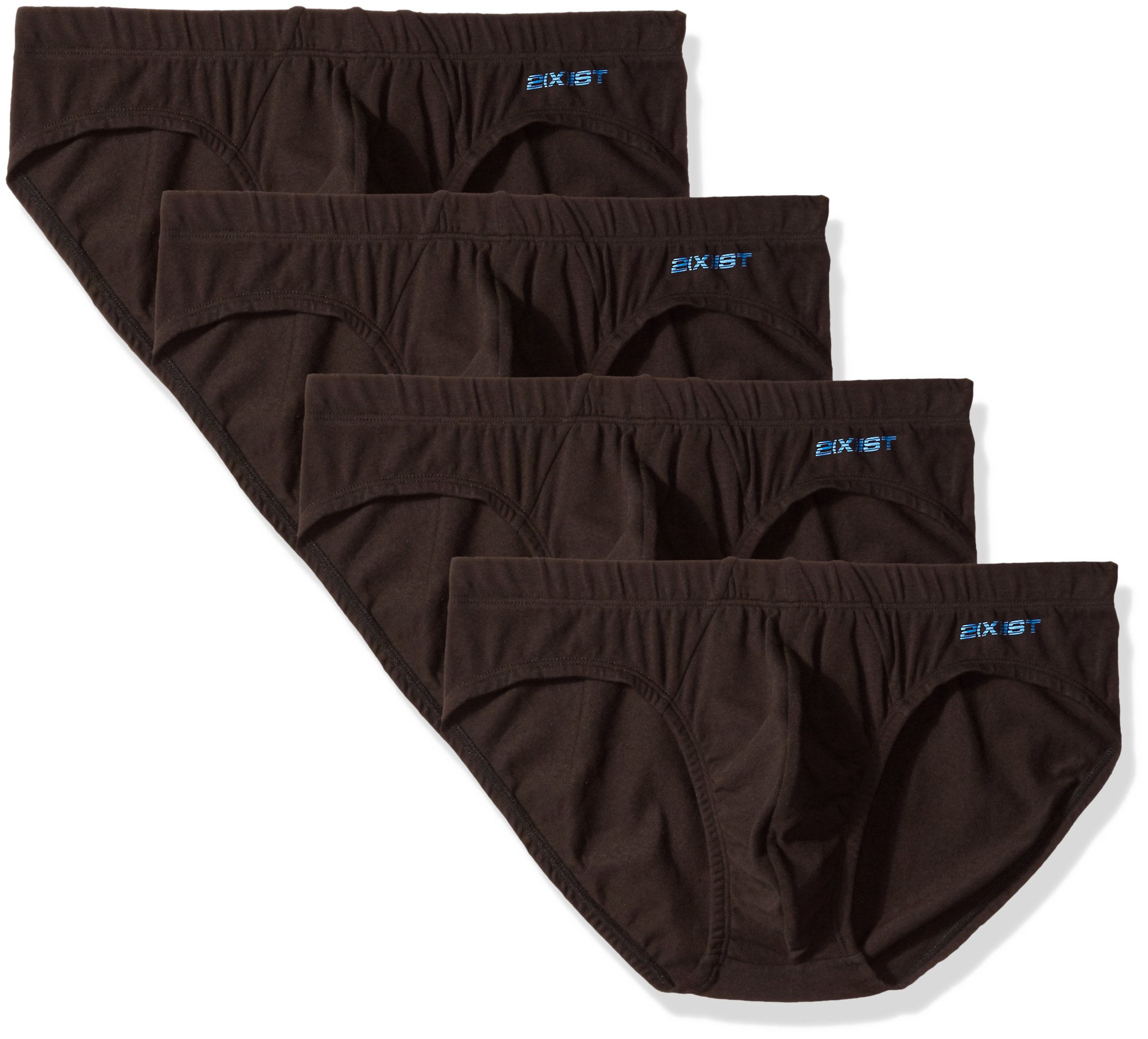 2(X)IST Men's Comfort Cotton Bikini Brief Multipack, Black, X-Large