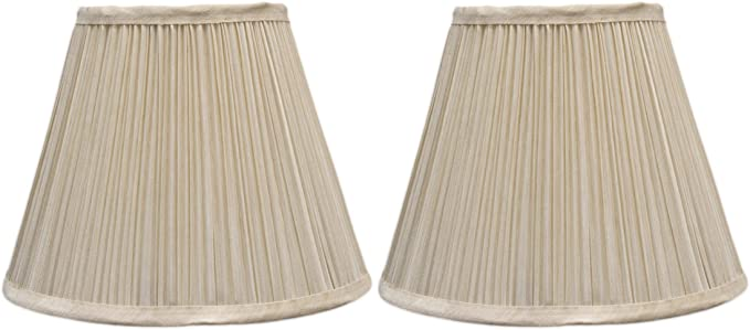 "CLIP ON BRAND NEW 6/"" FAUX SILK AND CREAM LINED BELL LAMPSHADE"