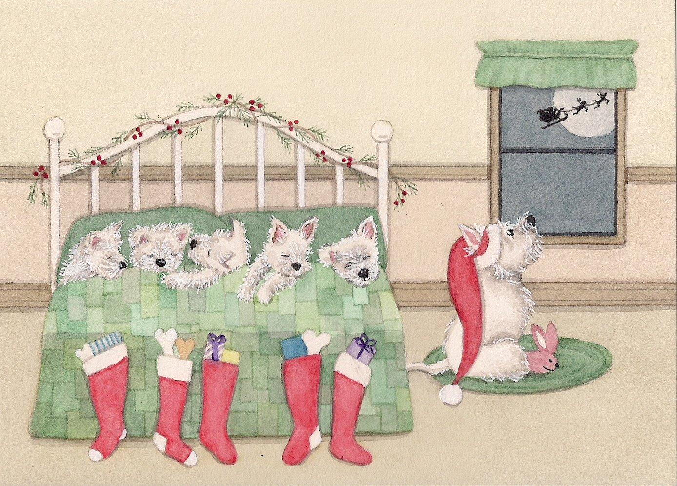 Amazon.com: 12 Christmas cards: West Highland Terrier (westie ...