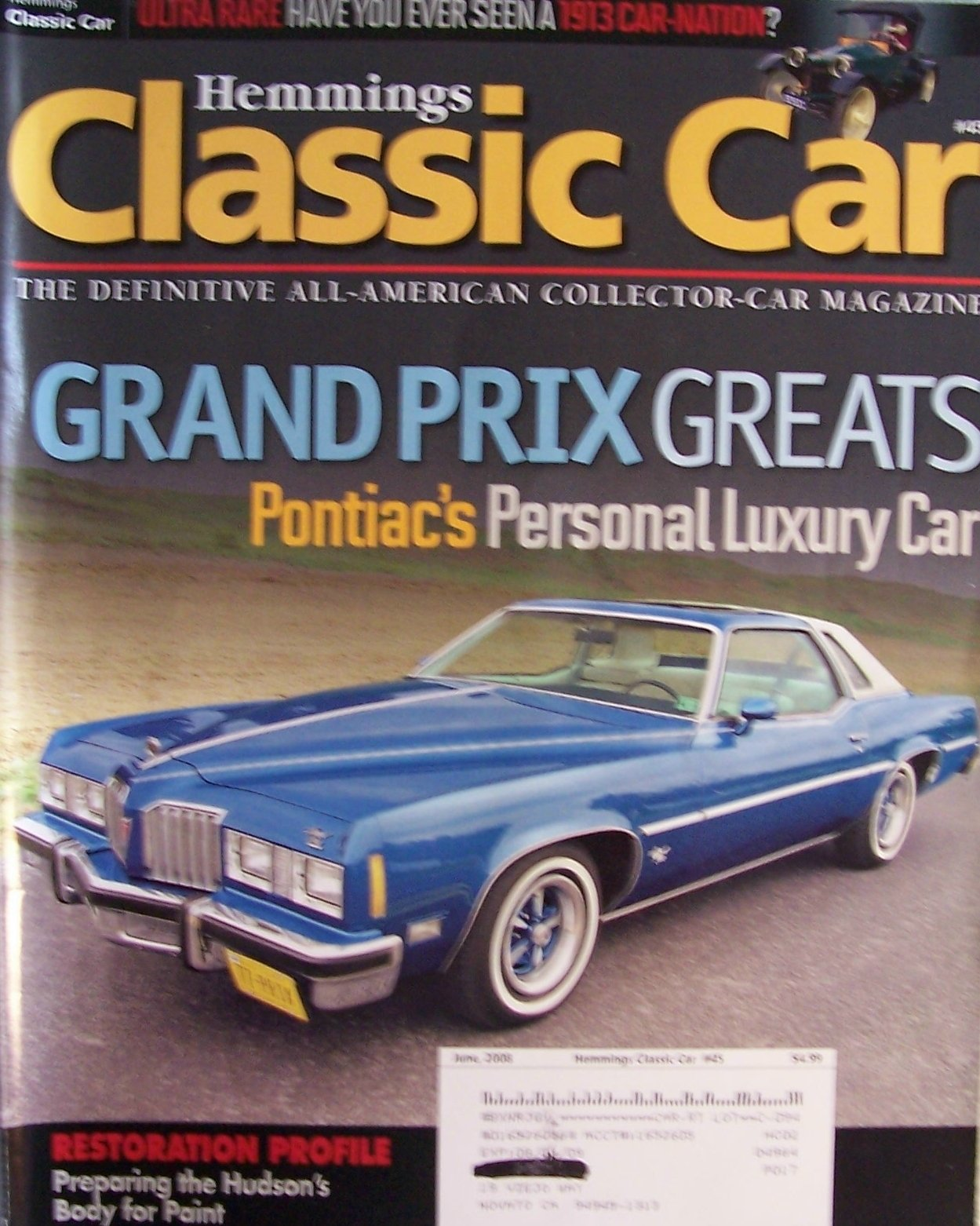 Hemmings Classic Car Magazine June 2008 Grand Prix Greats