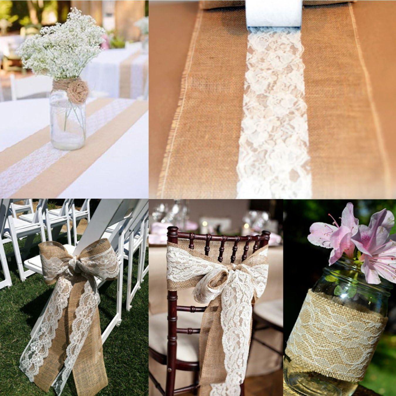 22m Rouleau de Tissu Tulle Dentelle D/écoratif pour Chemin de Table DIY Tutu Nappe D/écoration de Mariage F/ête Anniversaire UOOOM 15cm Rose