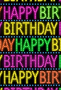 Toland Home Garden Marque Birthday 28 x 40 Inch Decorative Colorful Happy Party Bright Lights House Flag