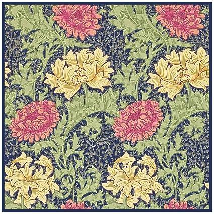 William Morris Bird Irises Flowers detail Counted Cross Stitch Chart Pattern