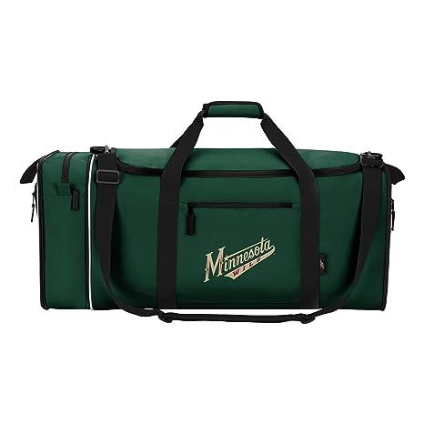 4eda390e65e Amazon.com : Officially Licensed NHL Minnesota Wild Steal Duffel Bag ...