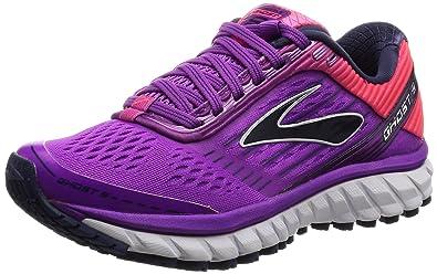 b592be6e3575 Brooks Women s Ghost 9 Purple Cactus Flower Diva Pink Patriot Blue Running  Shoes -
