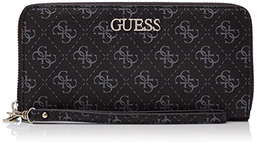 Guess - Maci Slg Large Zip Around, Mujer, Blanco (Coal ...