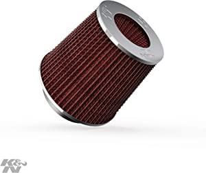 K&N Universal Clamp-On Air Filter: High Performance, Premium, Washable, Replacement Filter: Flange Diameter: 4 In, Filter Height: 5.5 In, Flange Length: 1.125 In, Shape: Round Tapered, RG-1001RD