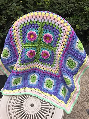Amazoncom Hand Made Baby Blanket Granny Square Afghan Blanket
