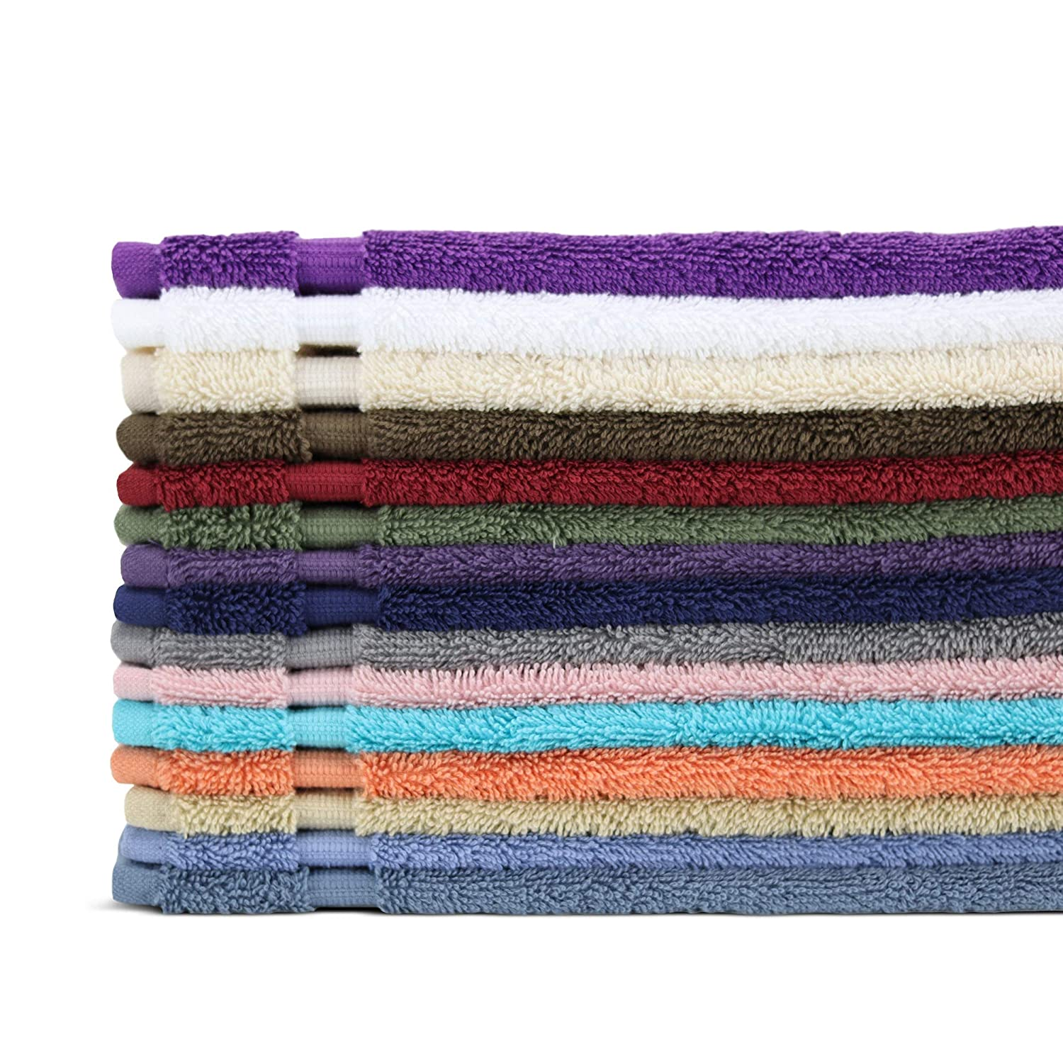 Towel Bazaar Premium Eco-Friendly 65% Turkish Cotton 35% Natural Organic Bamboo Rayon Hand Towel Set of 4, Multipurpose Bathroom Towels for Hand, Face, Gym and Spa (16 x 30 inches, White)