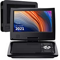 """SUNPIN 11"""" Portable DVD Player for Car and Kids with 9.5 inch HD Swivel Screen, 5 Hour Rechargeable Battery, Dual…"""