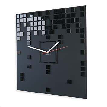 FLEXISTYLE Moderne Wanduhr Harmony, rechteckig 50 cm XXL, schwarz ...