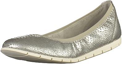 detailing 57a17 ef62b Tamaris Schuhe 1-1-22109-28 Bequeme Damen Ballerina, Sommerschuhe für  modebewusste Frau,