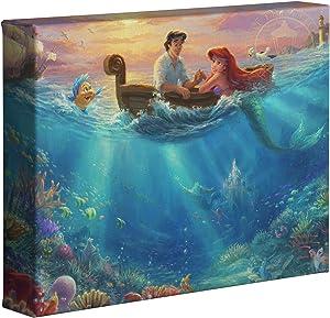 Thomas Kinkade Studios Little Mermaid Falling in Love 8 x 10 Canvas Wrapped Canvas