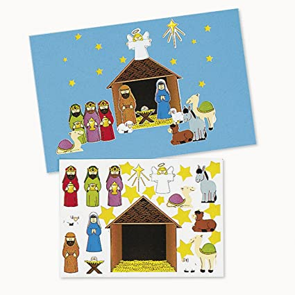 Amazon make a nativity sticker sets 1 dz toys games make a nativity sticker sets 1 dz solutioingenieria Gallery