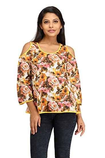 636207b4cfbb2 100% Cotton Cut-Out Cold Shoulder Tops for Women   Girl s - Cotton Tops for  Ladies - Fancy   Stylish ...
