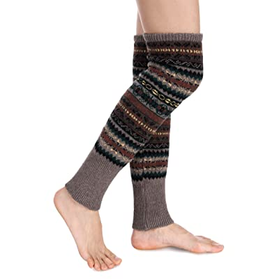 Avidlove Women Knee High Socks Winter Bohemian Boot Cuffs Knit Crochet Leg Warmers