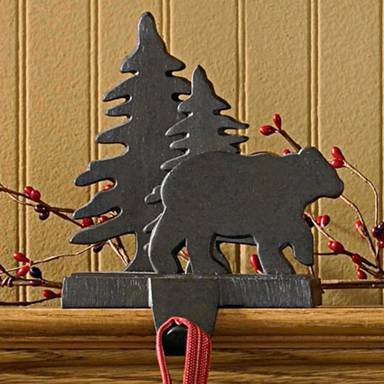 Amazon Com Park Designs Bear Tree Stocking Hanger Home Kitchen
