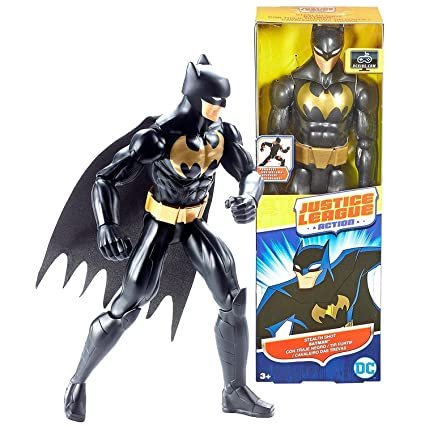 Justice League DC Comics Year 2016 Action Series 12 Inch Tall Figure - STEALTH SHOT BATMAN GBK40 with 11 Points of Articulation