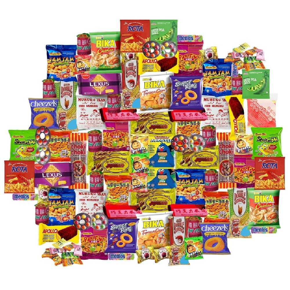 Amazon com: Malaysia Snacks, Cracker & Candies Package for Office