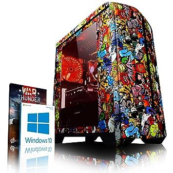 VIBOX Rebel GR350T-3 Gaming PC Ordenador de sobremesa con Cupón de Juego, Windows