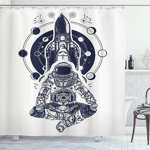 Fases de Luna cortina de ducha por lunarable, transbordador ...
