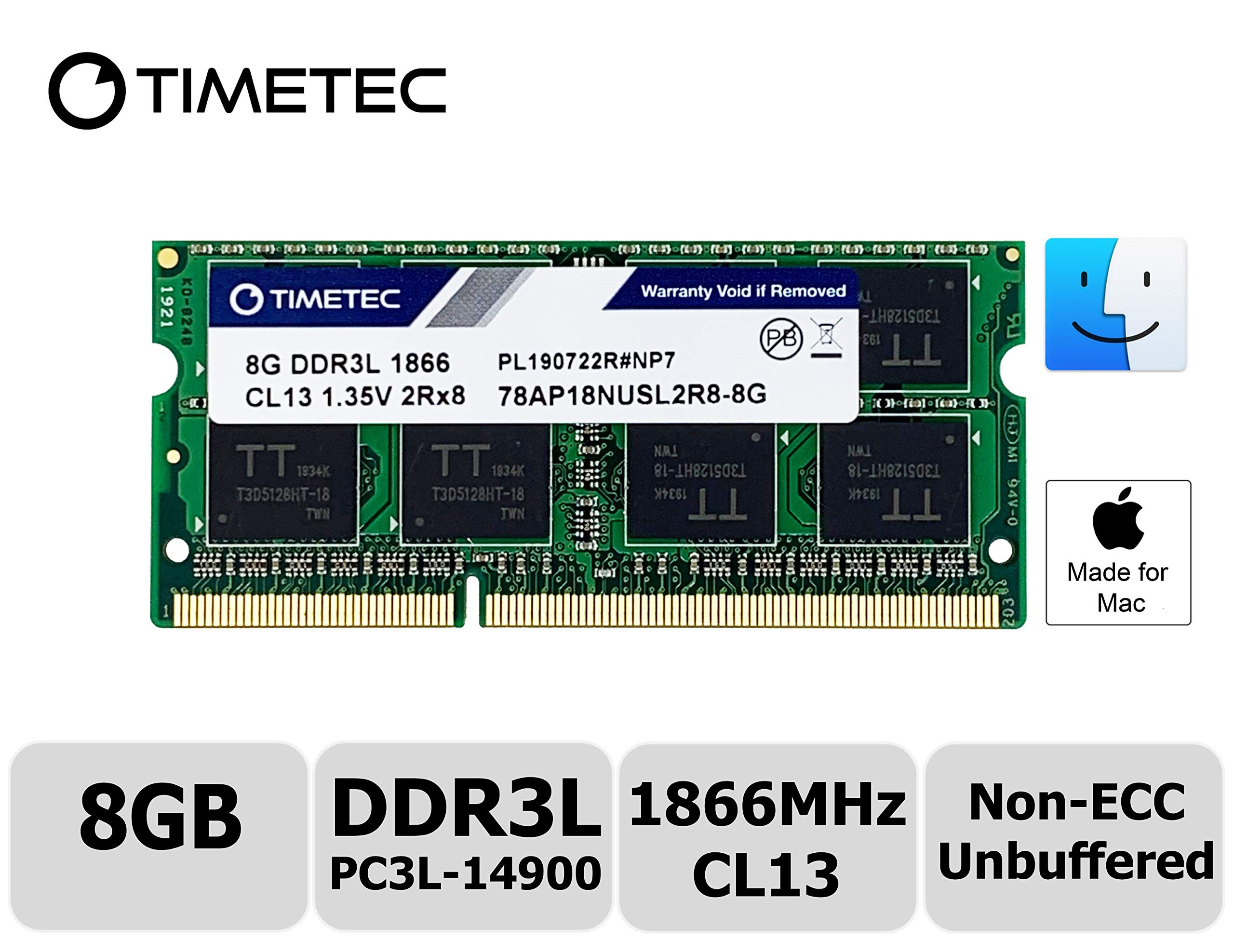 Memoria Ram 8gb Timetec Hynix Ic Compatible Para Apple Late 2015 iMac 27-inch W/retina 5k Display Ddr3l 1866mhz / 1867mh