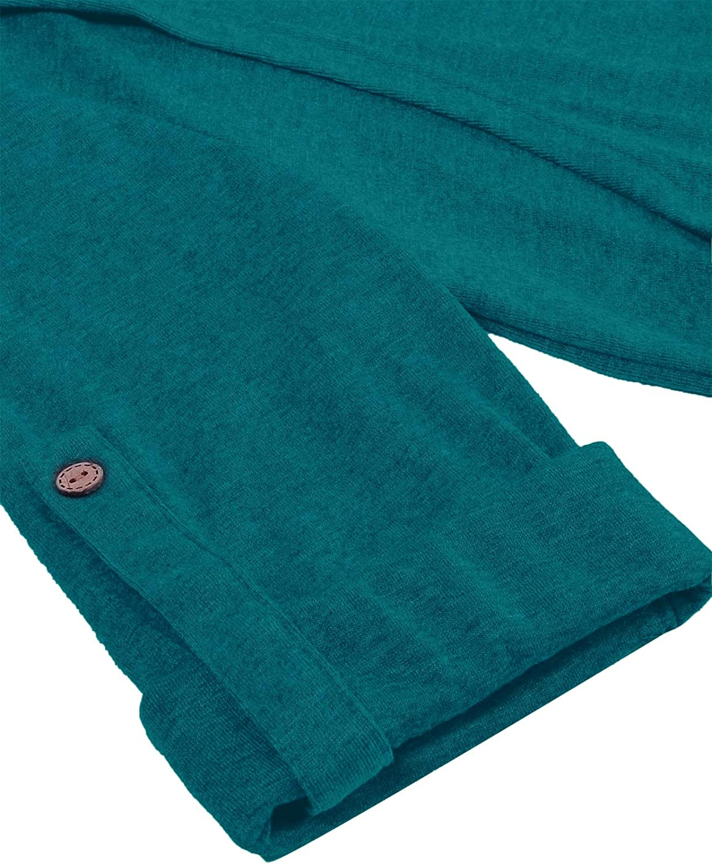 JOYMOM Maternity Notch Neck Cuffed Sleeve Nursing Blouses Fulfilled by