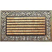 Onlymat Rubber Coir Doormat,Brown Black ,75 Cm X 45 Cm X 1 Cm