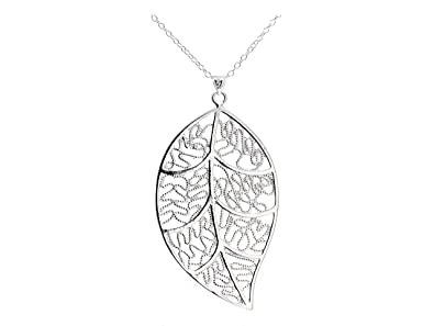 Goldwinter silver leaf necklace is handmade and made of sterling goldwinter silver leaf necklace is handmade and made of sterling silver with a black gift box aloadofball Images
