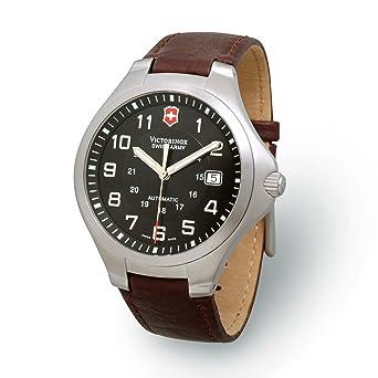beaucoup de choix de trouver le prix le plus bas meilleur grossiste Victorinox Swiss Army - 24864 - Base Camp - Montre Homme - Automatique -  Bracelet en Cuir Marron