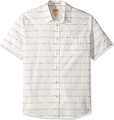 Quiksilver Camisa de manga corta con botones para hombre: Amazon.es: Ropa y accesorios