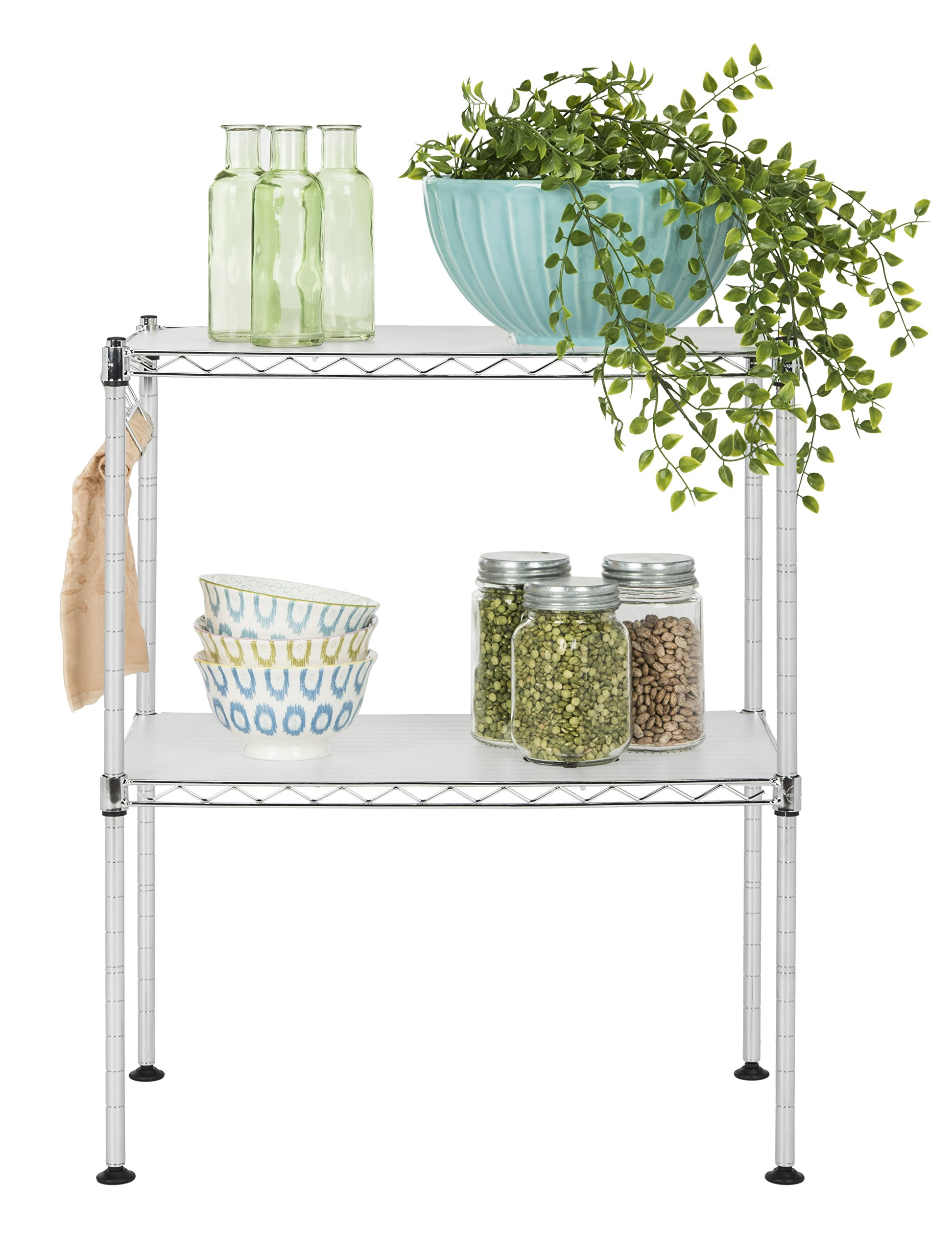 happimess HPM5013A Racking, 19.69 in. W x 11.81 in. D x 23.62 in. H, Silver by happimess (Image #2)
