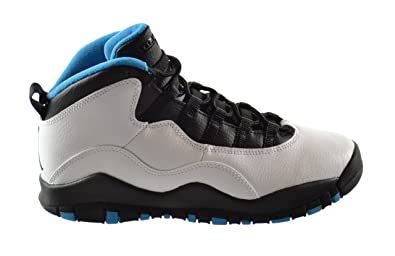 8f3ce3c54c76d2 Jordan Air 10 Retro Powder Blue (GS) Big Kids Basketball Shoes White Dark