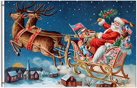 amazon com wamika merry christmas flag 3x5 ft winter holiday vintage santa sleigh deer flying snow village night garden yard house flags banner indoor outdoor party christmas decorations single sided garden wamika merry christmas flag 3x5 ft winter holiday vintage santa sleigh deer flying snow village night garden yard house flags banner indoor outdoor