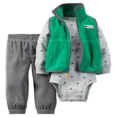 Amazon.com: Carter bebé Boys 3 pieza del chaleco, body ...