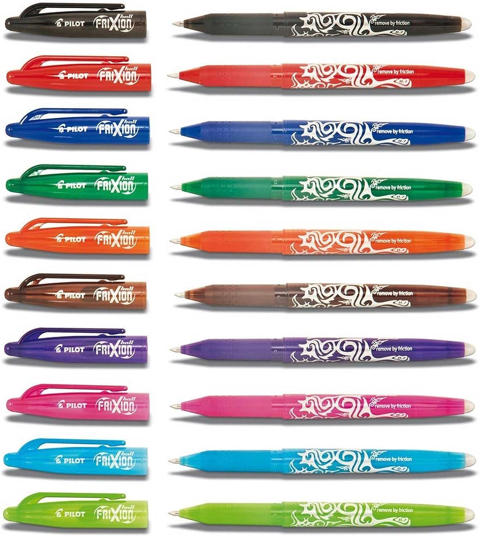 Pluma de la tinta Pilot Frixion Clicker 07 Serie 10 Pack ahorro ...