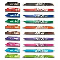 PILOT FRIXION ROLLERBALL PENS - ERASABLE 0.7mm Tip BL-FR7 [10 Pens Set] Assorted Colours