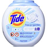 Tide Laundry Detergent Pods, Free & Gentle, 81 Count (Pack of 1)