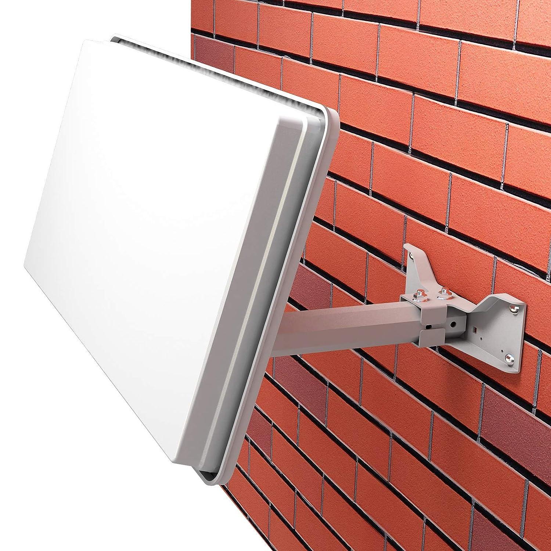 2 Fensterdurchf/ührung 4 Wetterschutzt/üllen 8 F-Stecker Fensterhalterung SAT-Finder 20m Kabel netshop 25 Set: Selfsat H30D2+ Flachantenne Single Full HD 4K UHD Sat Anlage f/ür 2 Teilnehmer