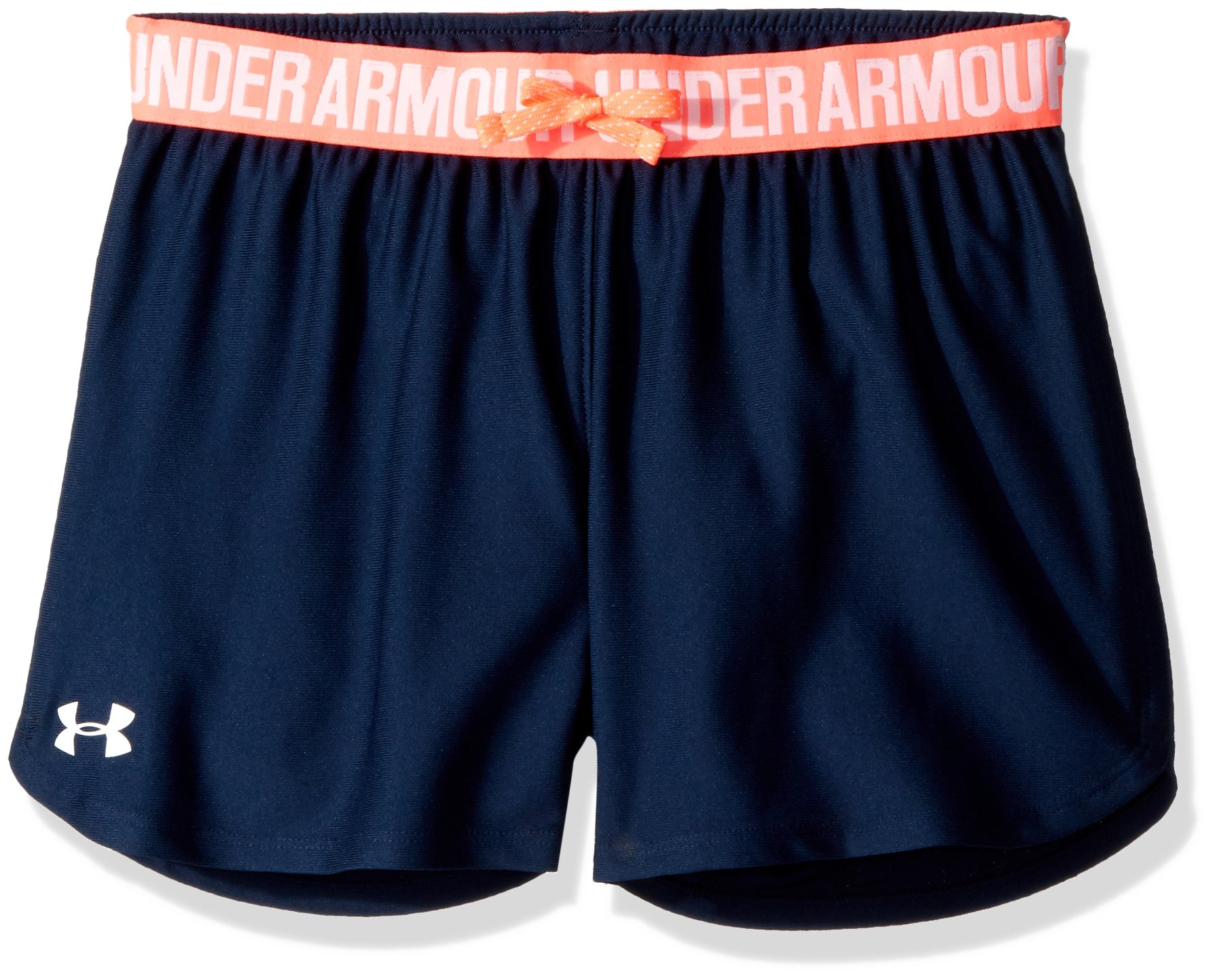 Under Armour Kids Girl's Play Up Shorts (Big Kids) Academy/Brilliance SM (8 Big Kids) by Under Armour