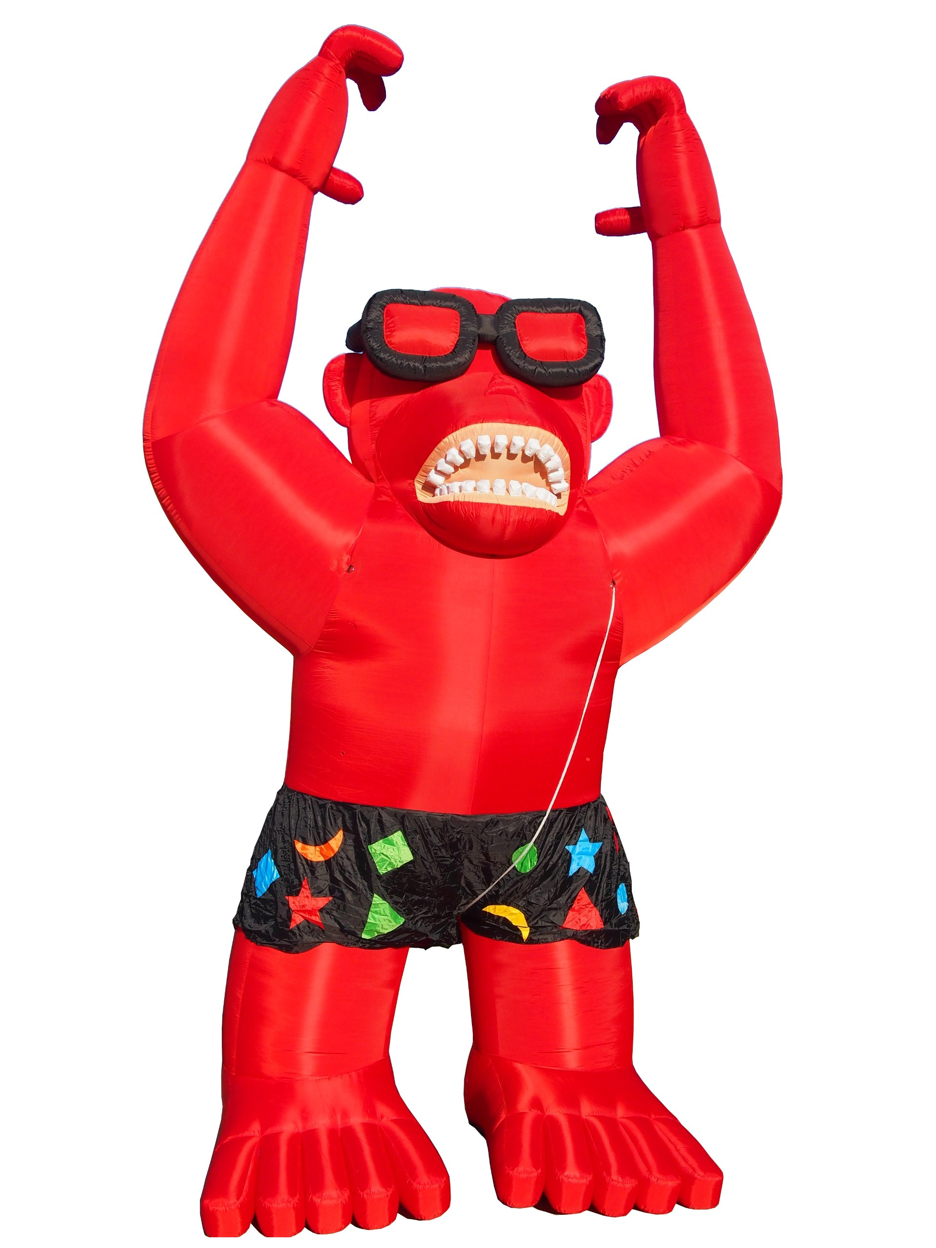 LookOurWay Giant Gorilla Inflatables with Harnessing, Red