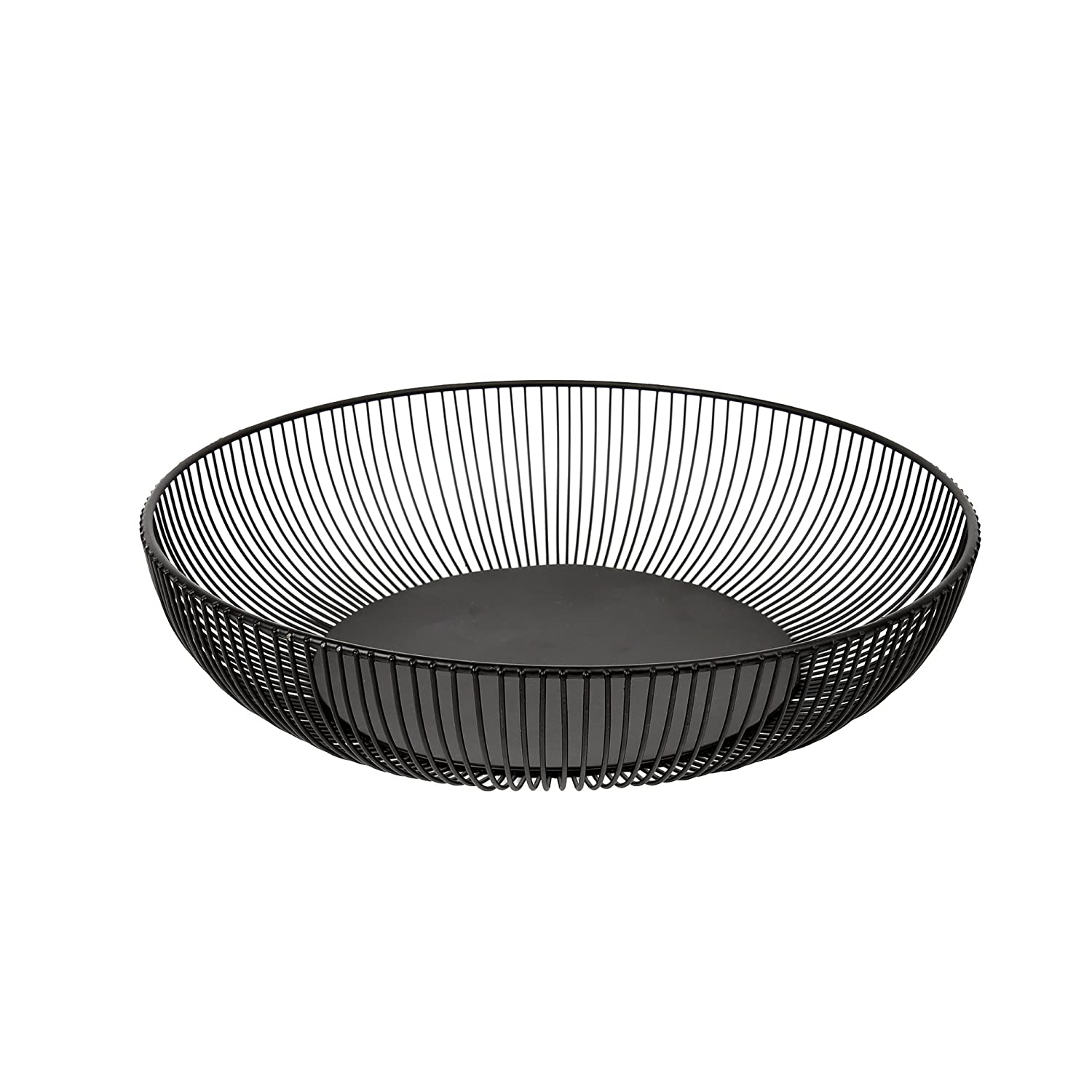 Luciano, 13 inches, Kai Wire Fruit Bowl, Black 66352