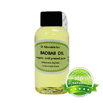2 Oz Baobab Carrier Oil By Dr Adorable 100 Pure Organic Cold Pressed Personal Essential Oils Beauty