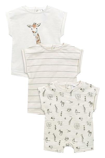 next Bebé-Niños Pack De Tres Peleles De Safari (0 Meses - 2 Años) Crudo 1.5-2 años: Amazon.es: Ropa y accesorios